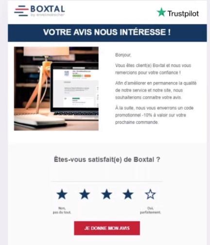 email de collecte d'avis clients
