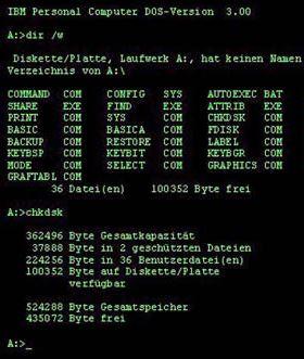 logiciel de facturation sous DOS